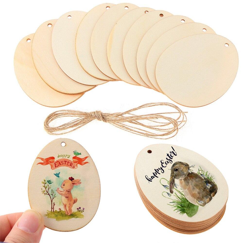 Необработанные пасхальные яйца для творчества, 1 упаковка, 30-150 мм, деревянные граффити-чипсы, подвесное украшение, деревянное ремесло, пасха...