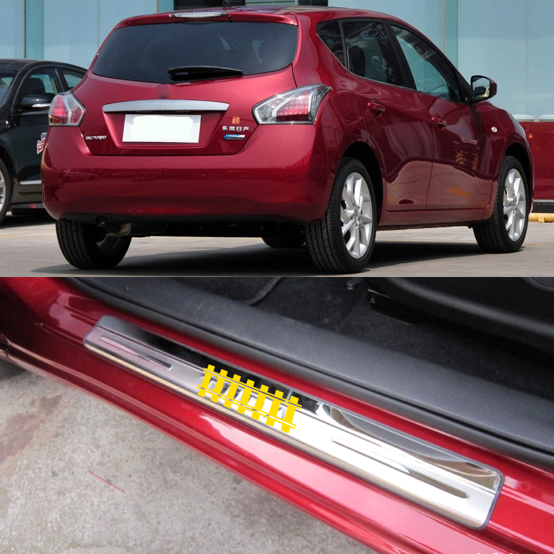 D23 2012-2016 para Nissan NP300 Navara BTSDLXX 4Pcs Coche Acero Inoxidable Kick Plates Decoraci/ón Estribos Auto Door Sill Scuff Pedal Protecci/ón Umbral Tira Anti Scratch Sticker Accesorios