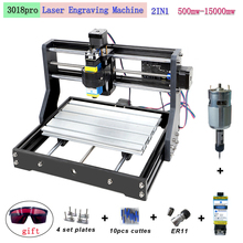 CNC 3018 Pro laser engraving machine 3-axis milling woodworking engraving machine 0.5-15W supports offline DIY laser cutting mac