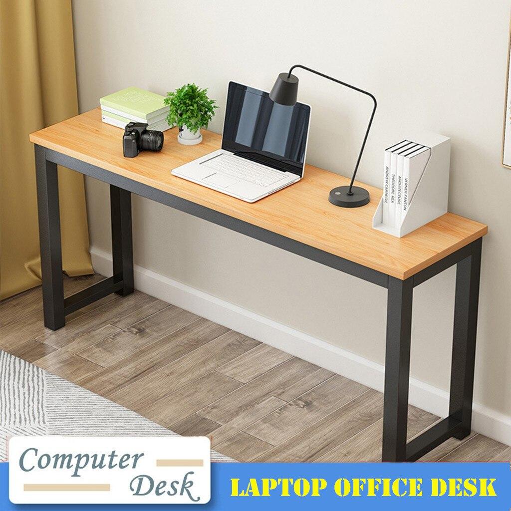 US $44.44 Writing Computer Desk, Modern Simple Sturdy Large Desk, PC  Laptop Wood Desk Study Table Workstation for Home Office(Yellow)Laptop  Desks -