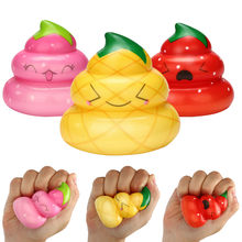 Squishies Kawaii Yummy Fruit Poo Slow Rising Cream Scented Stress Relief Toys Elastic Environmentally PU Squishy Antistress A50(China)