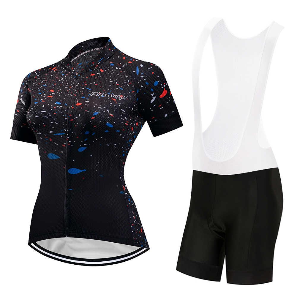 SXSHUN Mujeres Conjunto de Maillot de Ciclismo Camiseta de Bicicleta Pantalones Cortos Coj/ín 3D Transpirable Verano