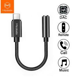 Mcdodo USB 유형 C 3.5mm 헤드폰 잭 OTG 어댑터 HIFI DAC 오디오 Aux 케이블 iPad Pro Macbook 삼성 S10 10 9 화웨이