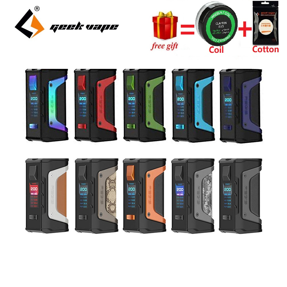 Free Gift! GeekVape Aegis Legend 200W TC Box MOD New AS Chipset Power By Dual 18650 Batteries E Cigs No Battery Aegis Legend MOD