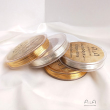 25-100 Meters Real Gold Plated Copper Wire DIY jewelry accessories 0.2MM 0.3MM 0.4MM 0.5MM 0.6MM 0.8MM Metal Wire For Jewellery