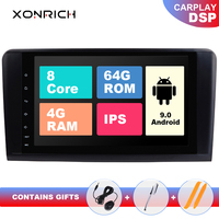 2 din Android 9 Car AutoRadio Player GPS FOR BENZ ML 320/ML 350/W164(2005 2012) GL Multimedia Navigation head unit IPS DSP 64GB
