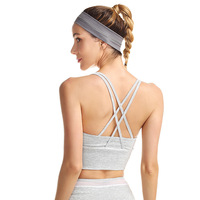 2019 women yoga bra sport bra push up absorb sweat Shockproof workout active wear seamless sports bra running fitness mujer top