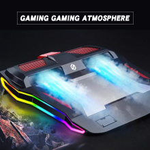 Laptop cooling pad, dual turbocharger radiator, with excellent mute effect, USB socket design, suitable for laptops under 17''