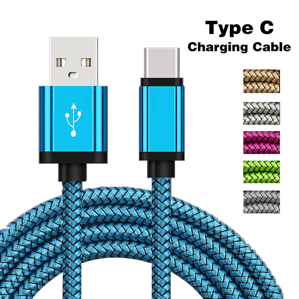 <font><b>USB</b></font> Type C Charging <font><b>Cable</b></font> <font><b>For</b></font> Samsung Galaxy A50 A70 A80 S9 S8 S10 1/<font><b>2</b></font> <font><b>Meter</b></font> Long Mobile Phone <font><b>Charger</b></font> Oneplus 7 Pro Short Cord image