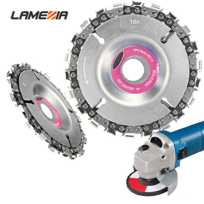 LAMEZIA 4 5 Inch 22 14 Tooth Diameter Carbide Disc Chain Saw Carving Culpting Wood Plastics For 100-125 Angle Grinder