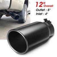 Silenciador de tubo de escape para coche  Universal de acero inoxidable de 4