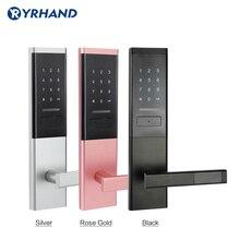 Serrure de porte électronique de sécurité, serrure à écran tactile intelligent, clavier à Code numérique boulon à glissière