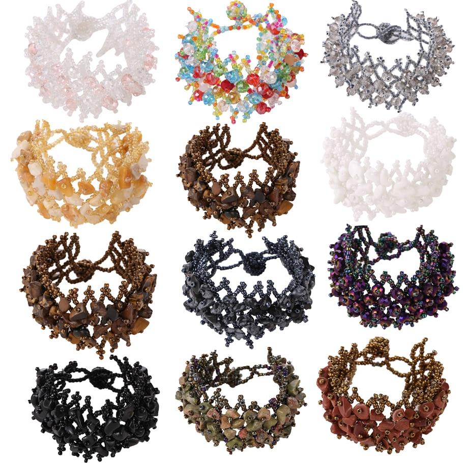 Adjustable Geometric Beads Bracelet Fashion Jewelry For Women Simple Bird multi-layer Vintage Star Charm Bracelets for Female