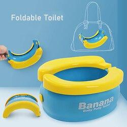 Portátil do bebê toalete foldaway potty crianças veicular mictório com 20 pces urina sacos crianças viagem assento do toalete crianças fora potty