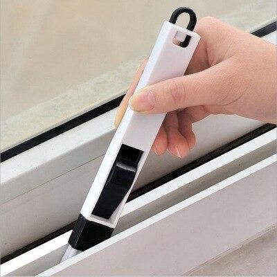 Szczotka do czyszczenia szczelin klawiatury drzwi, uniwersalny środek czyszczący + szufelka 2 w 1 urządzenia do oczyszczania