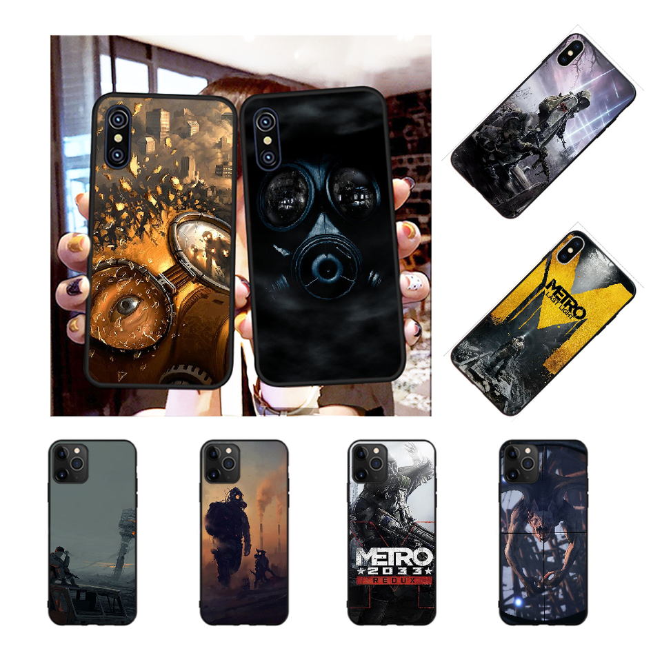 Nbdruicai Metro 2033 Anime Phone Case For Iphone 11 Pro Xs Max 8 7 6 6s Plus X 5s Se Xr Case Half Wrapped Cases Aliexpress