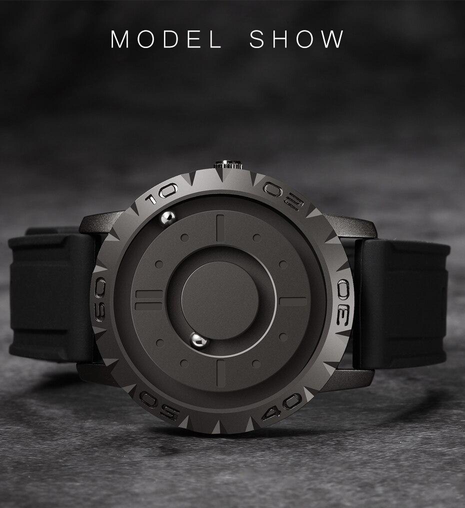magnética relógio de quartzo masculino peculiar dos