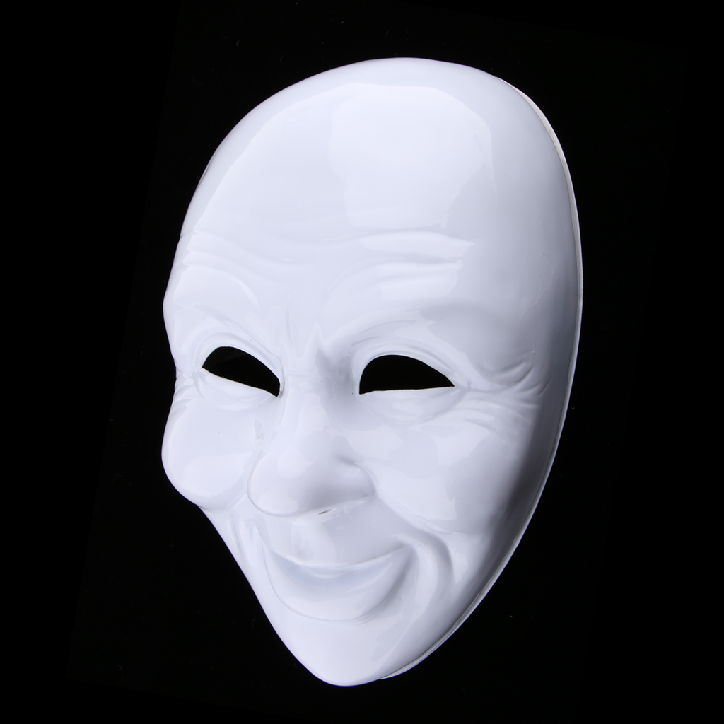 Halloween Festival Party Mask White Blank Full Face Mask Prop Costume Supply