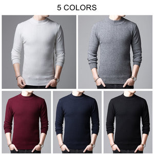Image 4 - COODRONY Brand Sweater Men Autumn Winter Thick Warm Cashmere Wool Pullover Men Pure Color Knitwear Turtleneck Pull Homme 91114