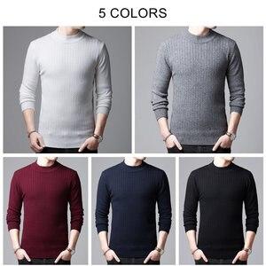 Image 4 - COODRONY marka sweter mężczyźni jesień zima gruby ciepły kaszmirowy wełniany sweter mężczyźni Pure Color dzianina golf Pull Homme 91114