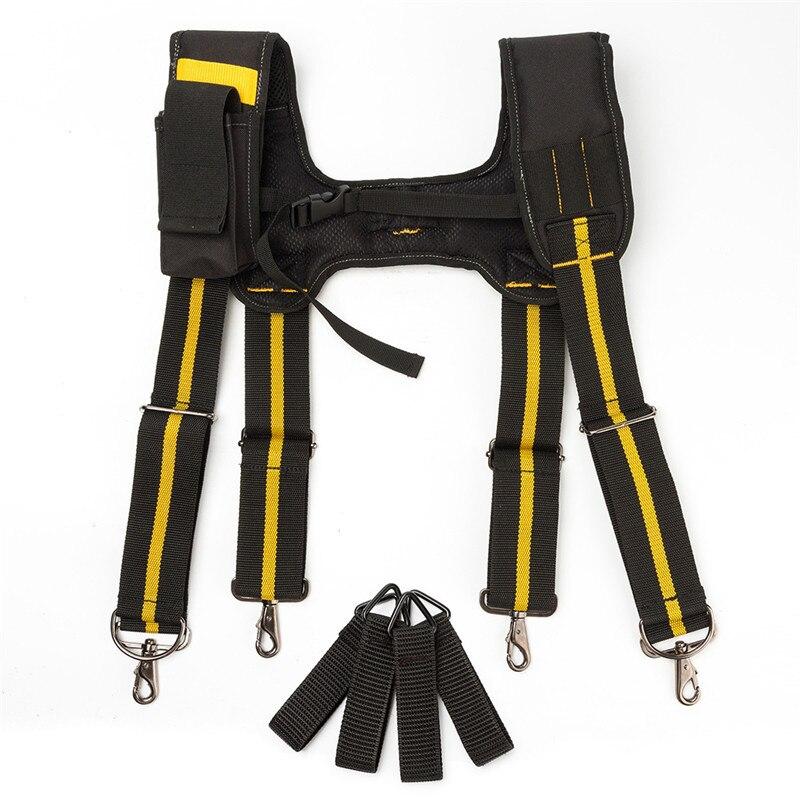 H type Дизайн Мягкий Сверхмощный Рабочий инструмент ремень подтяжки с 4 поддерживающими петлями для снижения веса талии мешок инструмента|Мужские подтяжки| | АлиЭкспресс