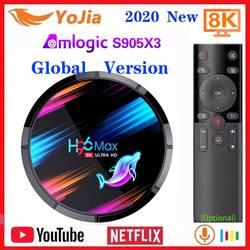 2020 Smart TV Box Android 9.0 Amlogic S905X3 8K odtwarzacz multimedialny Max 4GB RAM 128GB ROM podwójny Wifi 2G/8G dekoder YouTube Netflix w Dekodery STB od Elektronika użytkowa na