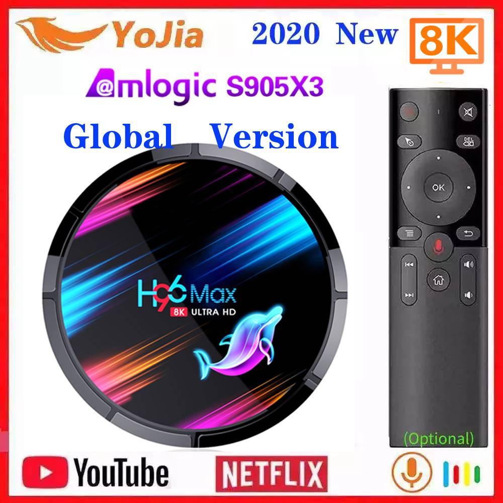 Смарт ТВ приставка H96 MAX X3 8K Amlogic S905X3 Android 9,0 Max 4 ГБ ОЗУ 128 Гб ПЗУ двойной Wifi медиаплеер телеприставка YouTube Netflix ТВ-приставки и медиаплееры      АлиЭкспресс