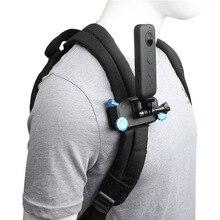 Mochila clipe de montagem para insta360 um x x2 panorâmica câmera cinta braçadeira cinto titular yi 4k mijia ação acessórios da câmera