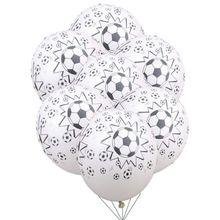 """10 pz/lotto 12inch Addensare Palloni Da Calcio 12 """"di Calcio In Lattice Palloncini Festa di Compleanno Decorazione Giocattoli Per Bambini Tema di Calcio"""