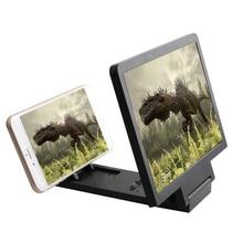 3D видео HD телефон усилитель экрана Powstro мобильный телефон увеличительное стекло HD Подставка для видео складной экран телефон Аксессуары
