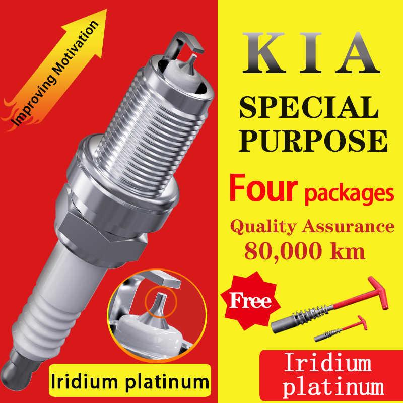 4 piezas/adecuado para KIA Pegas Forte Sportage soul cerato optima RIO carnaval iridio platino bujías