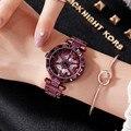 2020 новые модные мужские и женские часы, наручные часы из нержавеющей стали, женские блестящие вращающиеся нарядные часы с большим бриллиант...