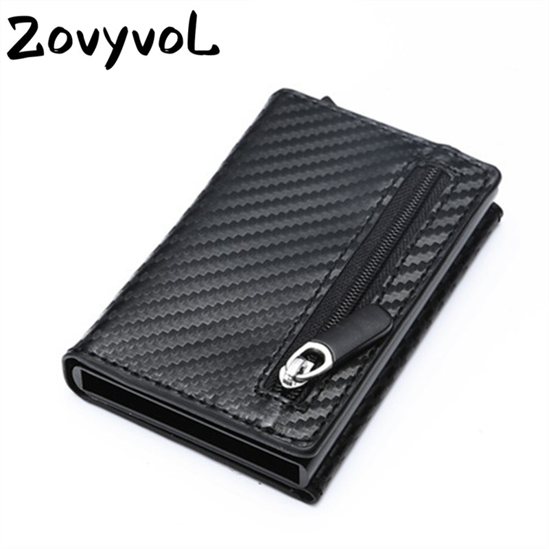PU Leather Coin Purses Magnetic Closing Card Holder Fashion New Smart Wallet Vintage Casual Money Bag RFID Blocking Card Wallet