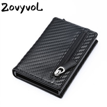 PU Leather Coin Purses Magnetic Closing Card Holder Fashion new Smart Wallet Vintage Casual Money Bag RFID Blocking