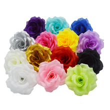 NEW 50PCS/Lot 19Colors 10CM Artificial Rose Silk Flower Heads Decorative Flowers for Wedding Party Banquet Decoration 20 lot 10cm artificial silk cloth rose handmade party supplies wedding car decoration artificial flower