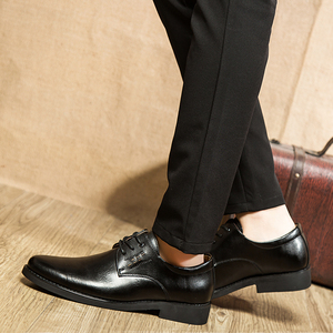 Image 5 - 2020 נעליים רשמיות גברים עגול הבוהן גברים שמלת נעלי עור גברים אוקספורד נעלי גברים אופנה שמלה הנעלה