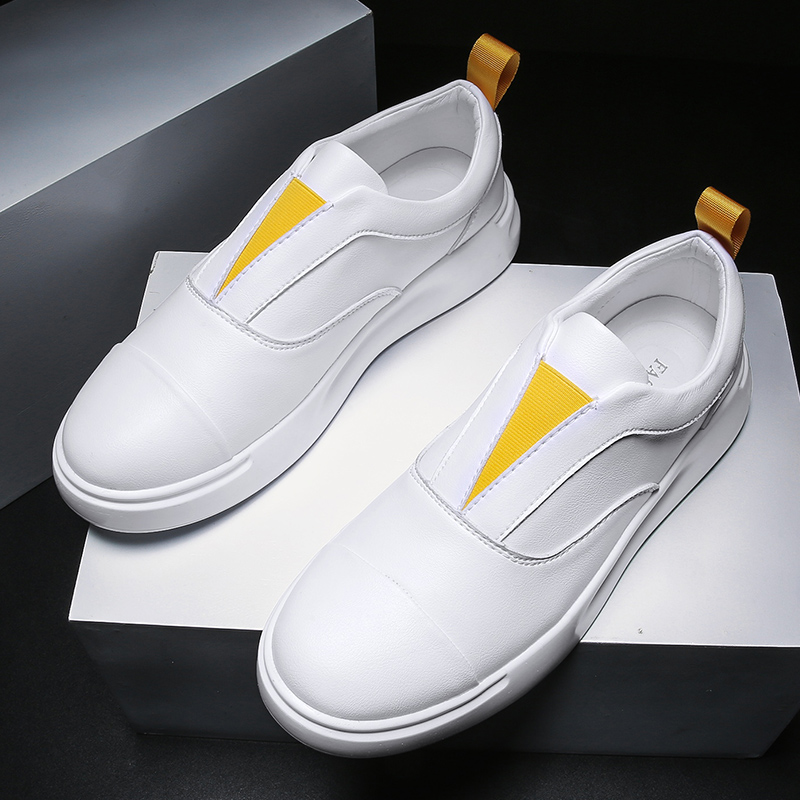 <font><b>Men</b></font> Casual <font><b>Shoes</b></font> Male Sneakers Slip-on Fashion <font><b>Shoes</b></font> Man Street Leisure White <font><b>Shoes</b></font> Zapatos De Hombre Footwear Adult Krasovki image