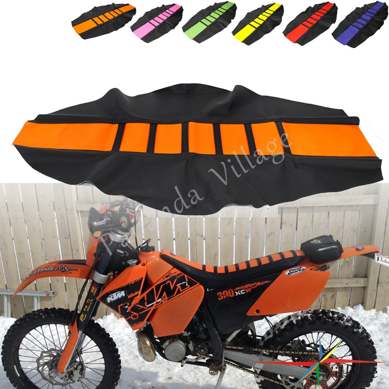 Universal <font><b>Enduro</b></font> Ribbed Traction Seat Cover Gripper Seat Cover for KTM SX SX-F EXC EXC-F XCW 85 125-530 Dirt Bike YZF CRF XR <font><b>250</b></font> image