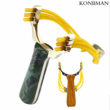Powerful Aluminium Alloy Slingshot Crossbow Hunting Sling Shot Catapult Camouflage Bow Outdoor Camping Travel Kits