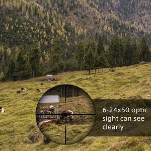 Image 4 - 6 24x50 3 9x40 охотничья оптика Регулируемый зеленый красный точечный охотничий светильник тактический прицел оптический прицел с 11 мм/20 мм