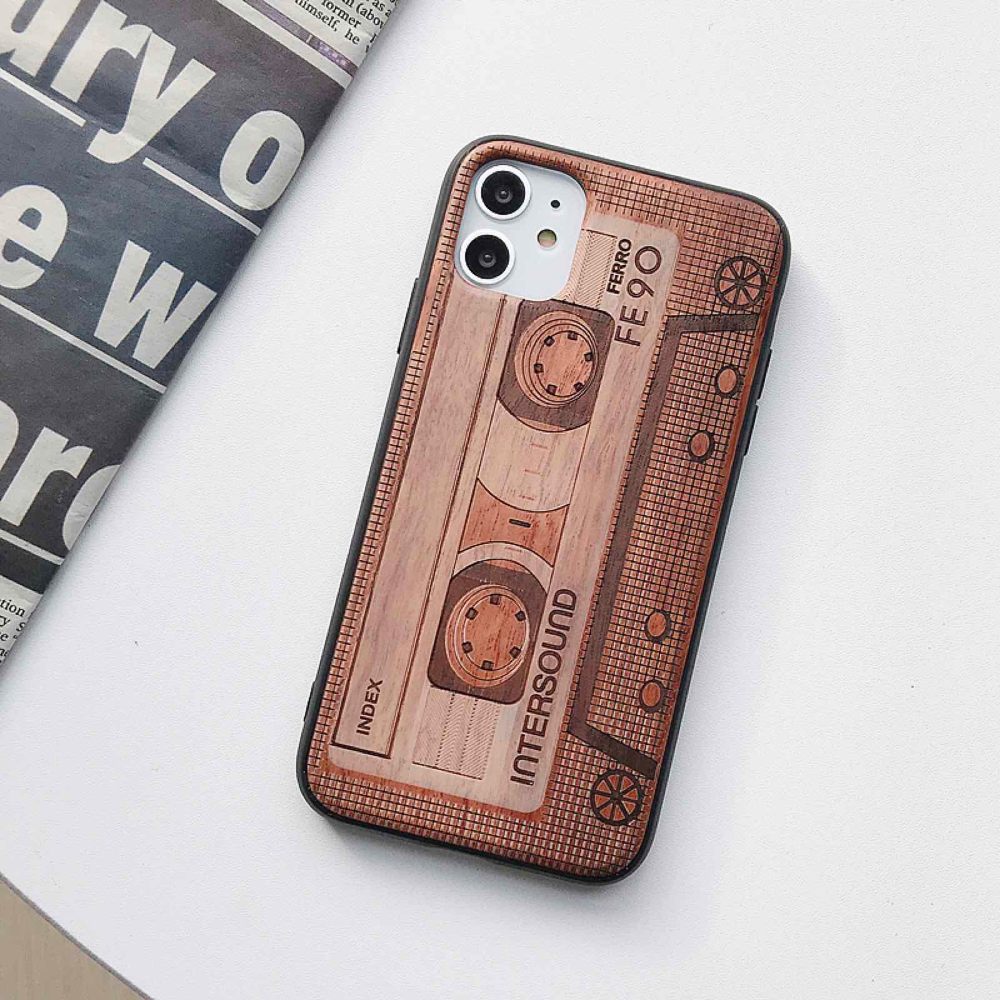 Natural Laser Carving Wooden Phone Case For iPhone 12 Pro Max  2