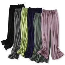 El 2020 de las mujeres pantalones Modal primavera otoño inferior suelta pantalones de dormir señoras de Pantalón de pijama de pantalones de ocio femenino pantalones de casa