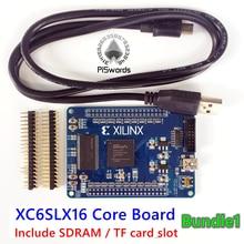 Последняя Xilinx spartan6 XC6SLX16 основная плата Xilinx spartan 6 FPGA макетная плата с 256 Мбит SDRAM