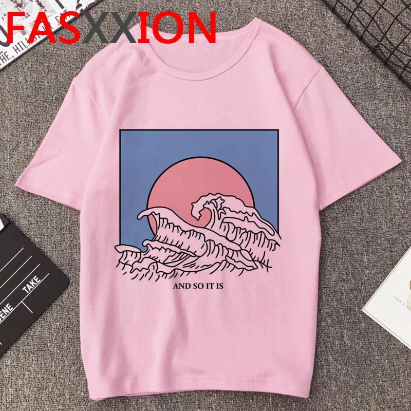 Vaporwave T Shirt Men Kawaii Cartoon T-shirt Aesthetic Hip Hop Streetwear Funny Graphic Tees Men Unisex Oversized Tshirt Male