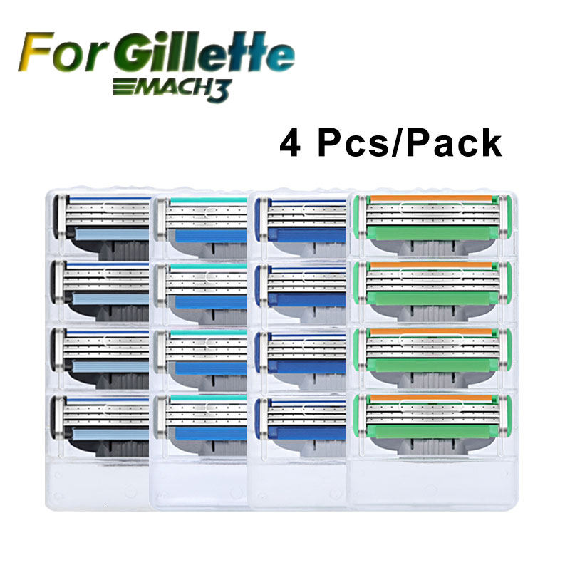 Razor Blade For Men 3 Layer Blades 4pcs/pack High Quality Shaving Cassettes For Gillettee Mache 3 Face Razor Shaving Blades
