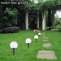 Садовые декоративные фонари, круглые уличные светодиодные лампы на солнечной батарее, водонепроницаемые Аварийные Фонари для крыльца, вод...