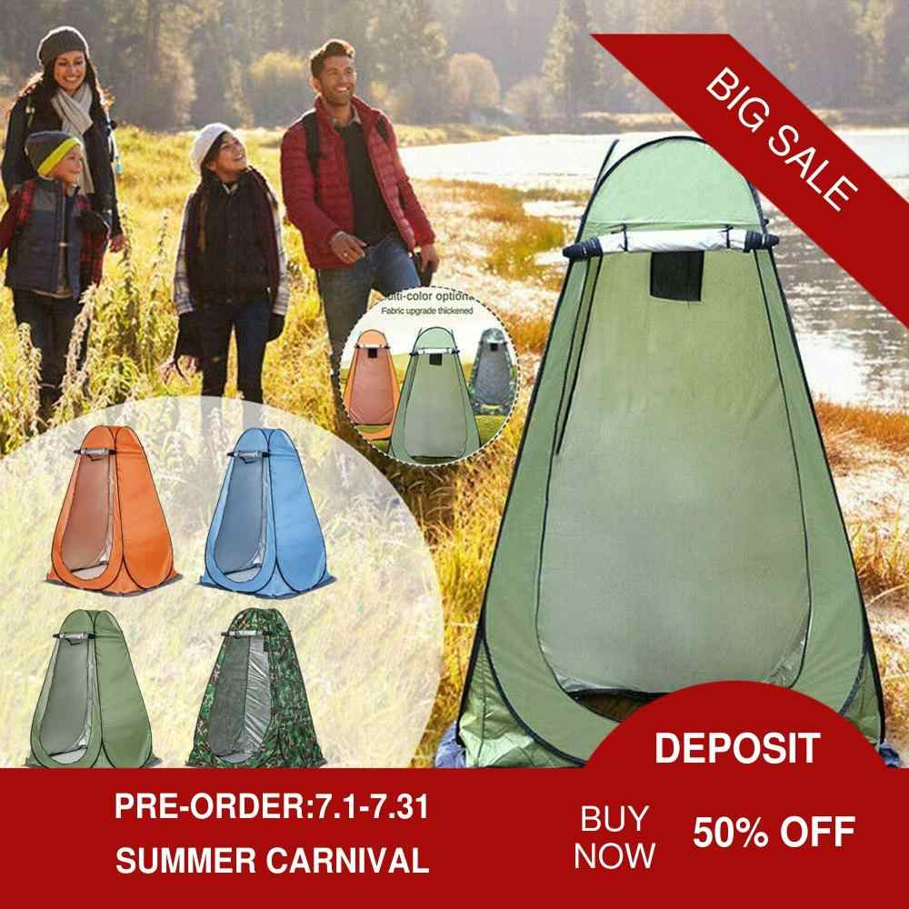 Portable Pop-up Tent Camping Toilet Shower Dressing Privacy Room Waterproof