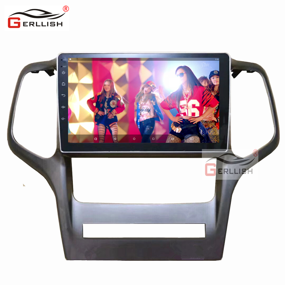Car Video Android Car Radio Screen For Jeep Grand Cherokee 2008-2013 With Google Play GPS Navigation Bluetooth WIFI