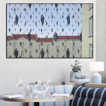 Картина маслом по холсту rene magritte golconda 1953 Современное