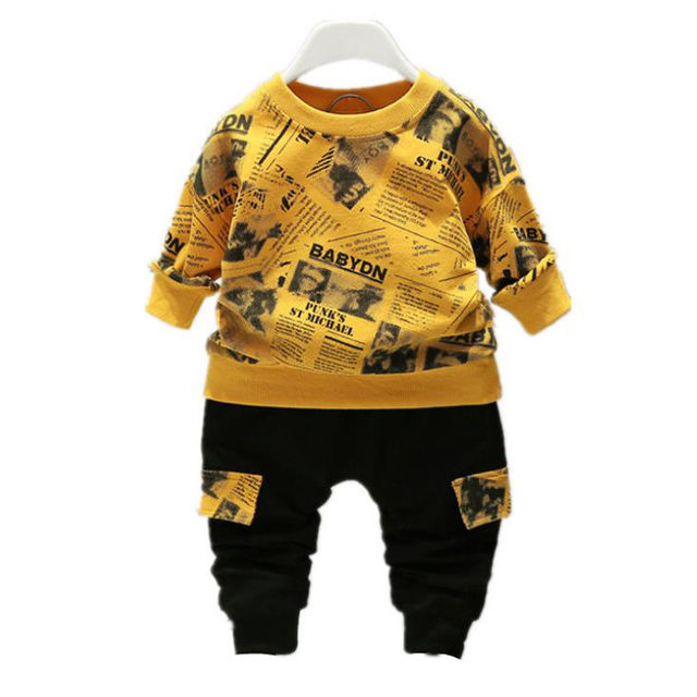 Baby Winter Autumn Clothes Sets Toddler Letter Outfits Children Boy Girl Sport Suit Kids 1 2 3 4 years Fall Clothing Wear 1